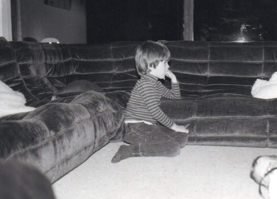 Sebastian Lami Dozo watching television
